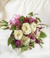 Lavender & White Tied Nosegay
