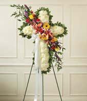 White Flower Standing Cross