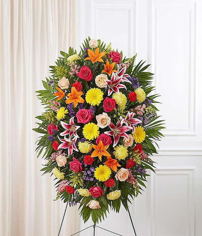 Multicolor Bright Sympathy Standing Spray