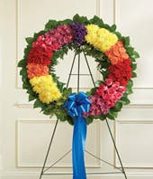 Rainbow Sympathy Wreath