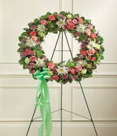 Multicolor Sympathy Flower Wreath