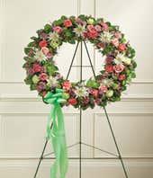 Multicolor Sympathy Flower Wreath