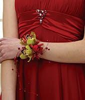 Rockin' Red Wrist Corsage