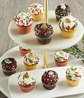 Mini Christmas Cupcakes for delivery