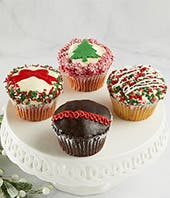 Large Christmas Cupcake Delivery