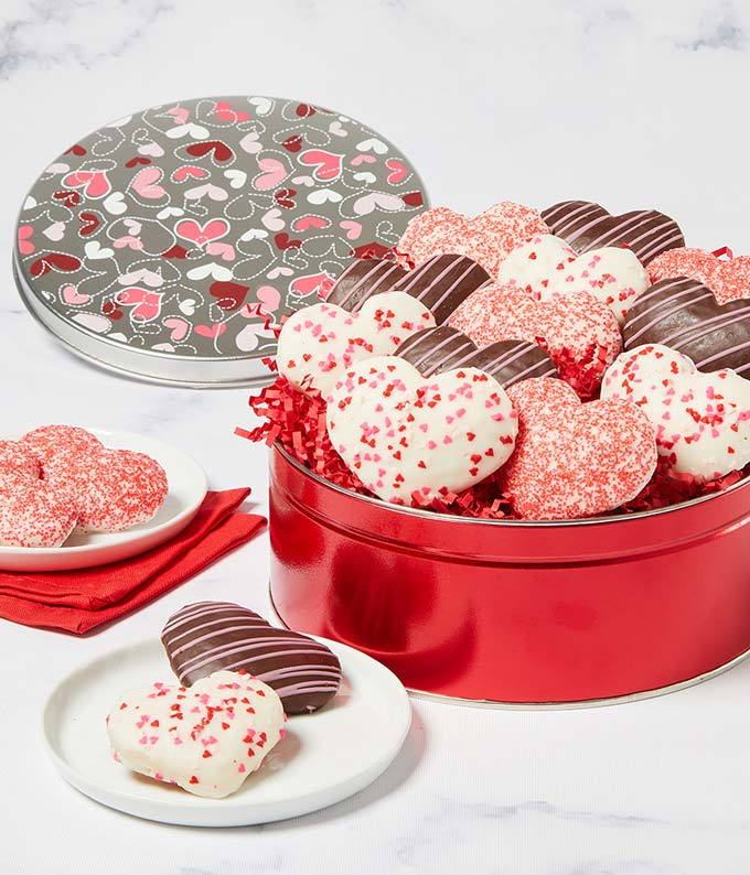Valentine's Heart-Shaped Cookies