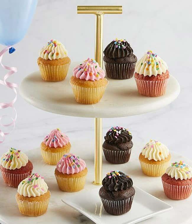 Mini birthday cupcakes