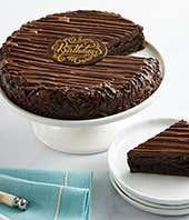 Brownie three layer birthday cake