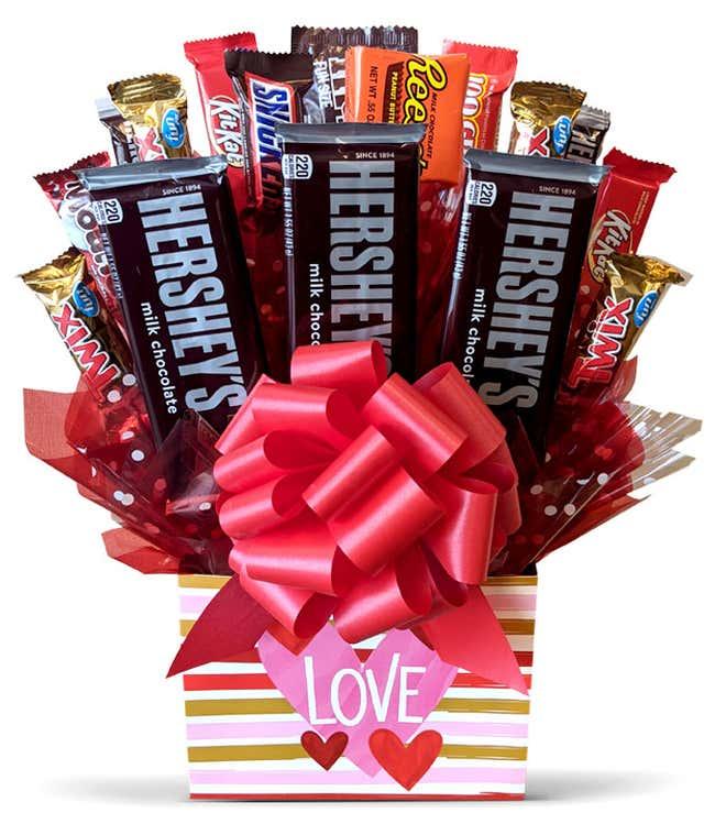 Valentine's Day candy bouquet