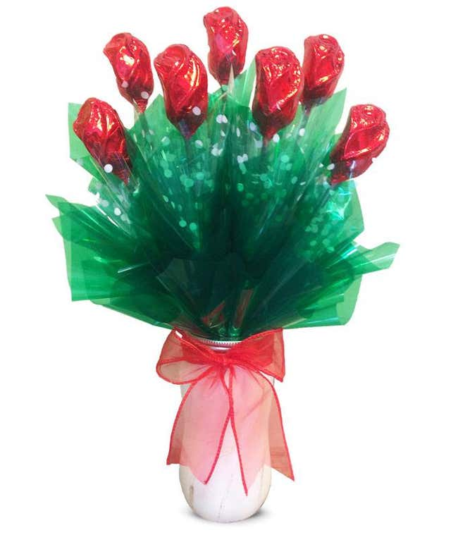 Rapturous Red Chocolate Roses