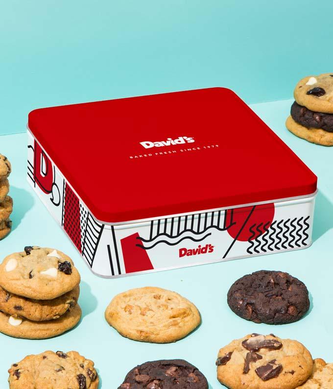 Assorted Cookies Tin - 1lb