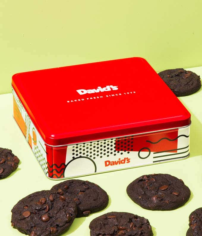 Double Chocolate Chunk Cookies Tin - 1lb