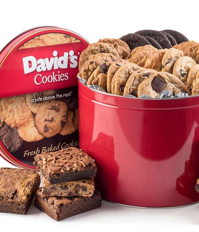 Cookie and brownie tin for delivery