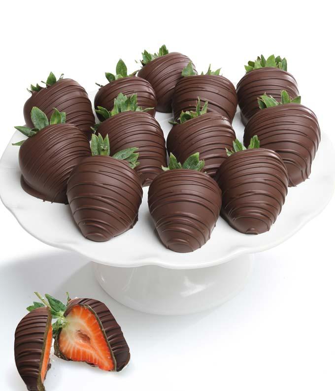 Belgian Dark Chocolate Covered Strawberries