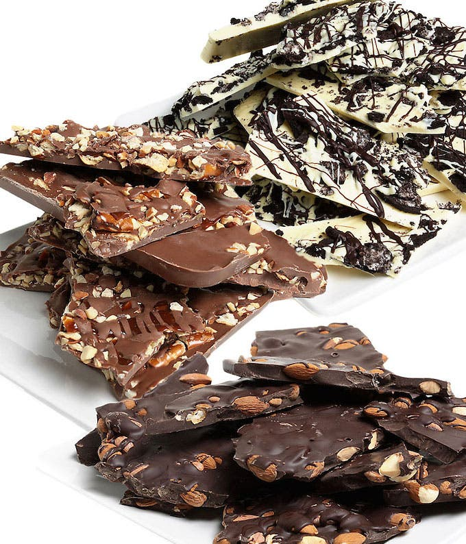 Chocolate Bark gift basket