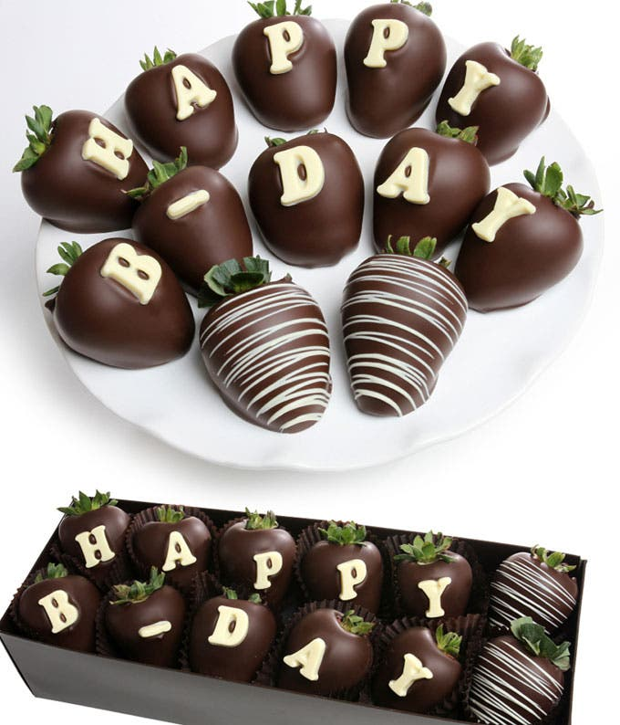 BIRTHDAY Chocolate Covered Strawberry BerryGram