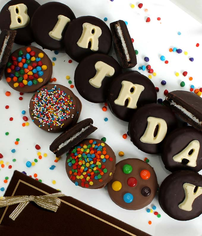 BIRTHDAY Belgian Chocolate Covered OREO� Cookies - 14 Pieces