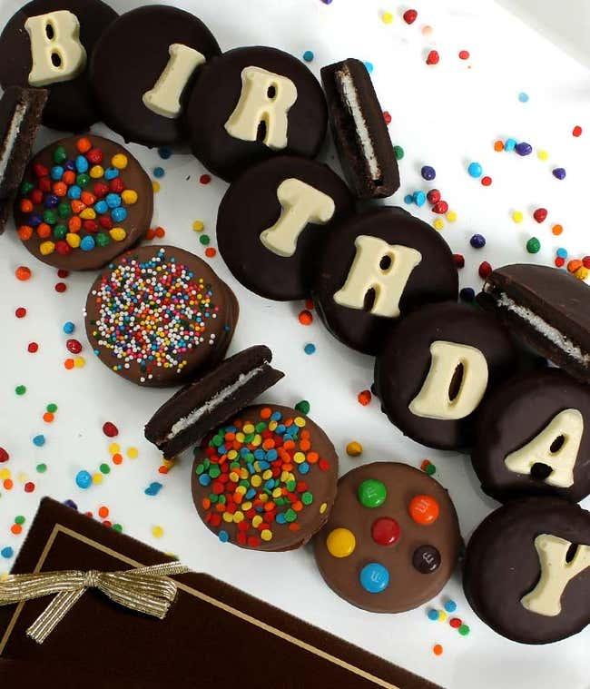 BIRTHDAY Belgian Chocolate Covered OREO® Cookies - 14 Pieces