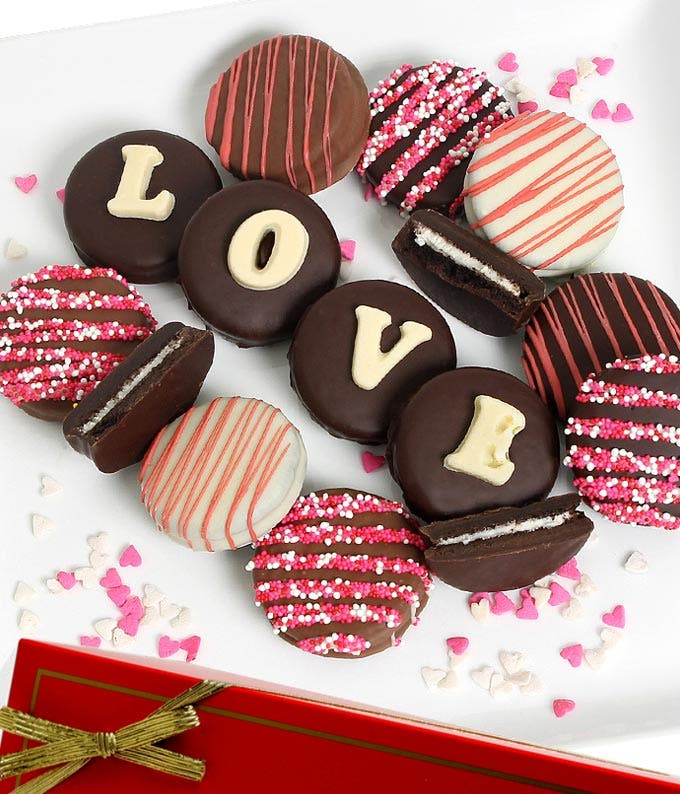 LOVE Belgian Chocolate Covered OREO® Cookies - 12 Pieces