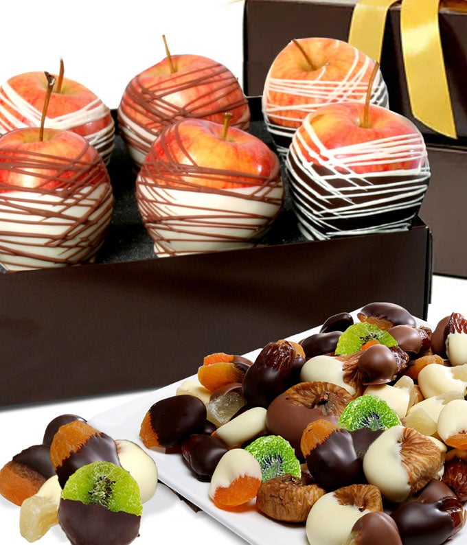 Decadent Chocolate Covered Fruit Gift Tower