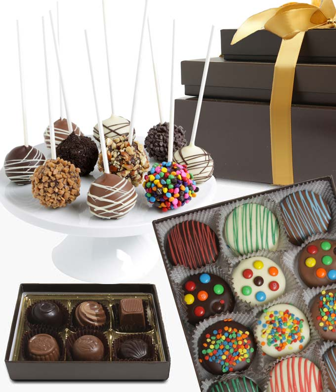 Chocolate covered Oreos, cake pops and truffles