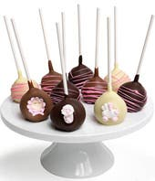 Baby Girl Chocolate Dipped Cake Pops