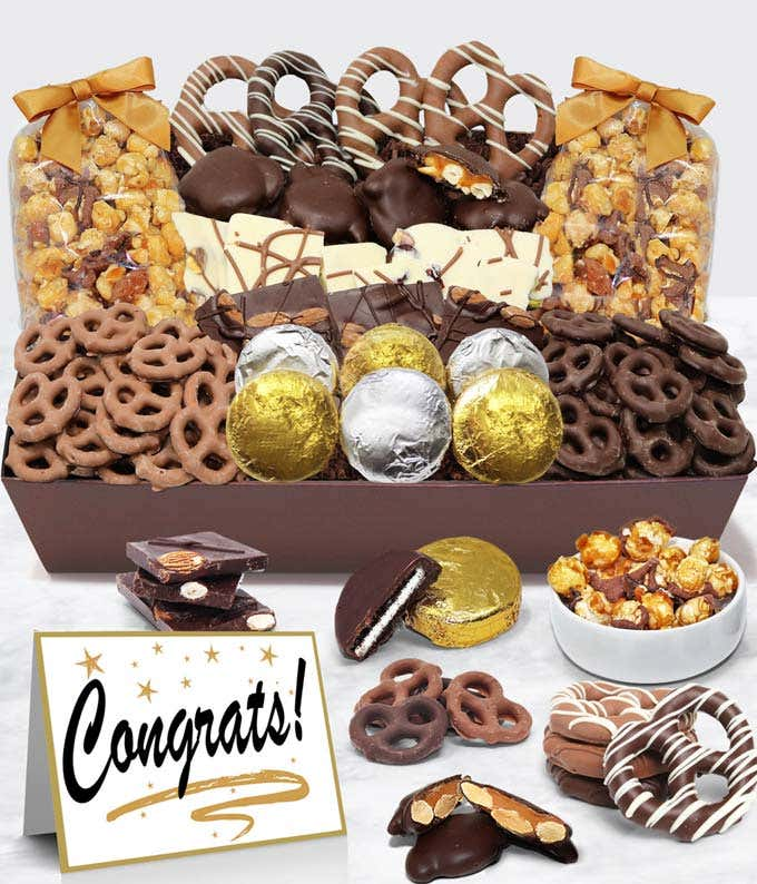 Congrats - Belgian Chocolate Covered Snack Tray
