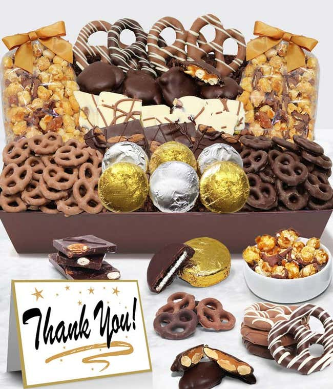 Thank You - Belgian Chocolate Covered Snack Tray