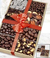 Large Dark Belgian Chocolate Covered Snack Tray Set