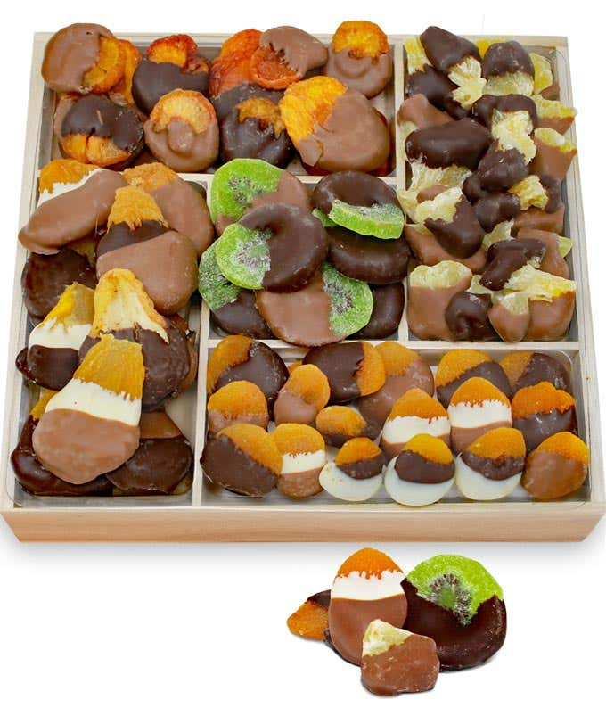 Grand Belgian Chocolate Dipped Dried Fruit Tray