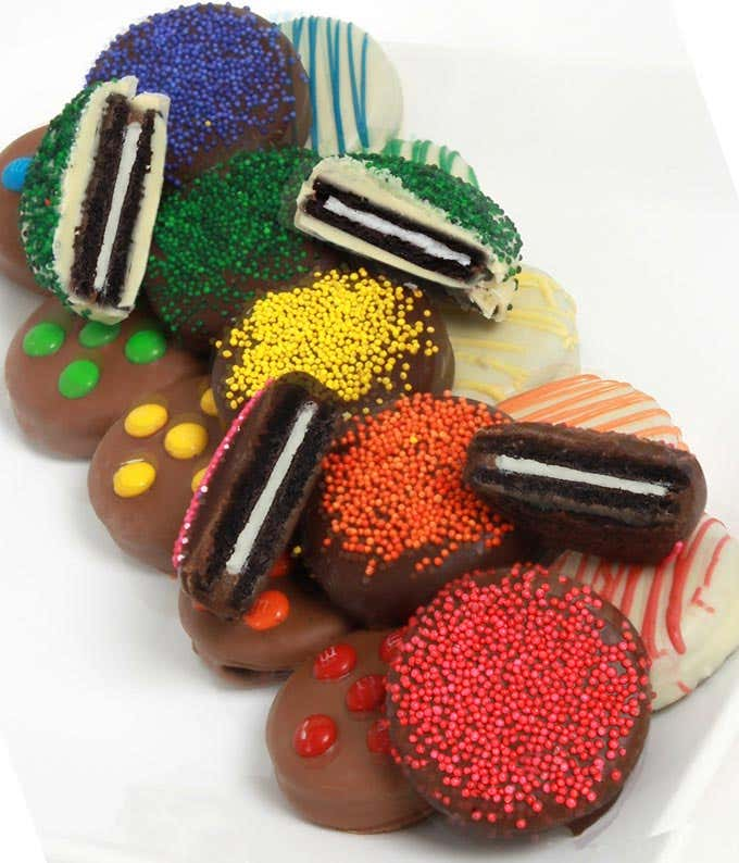 Rainbow Chocolate Covered OREO® Cookies