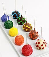 Multicolored cake pops