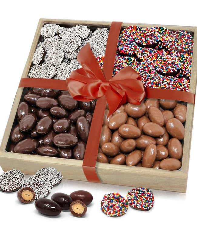Chocolate Nonpareils and Chocolate covered Almonds