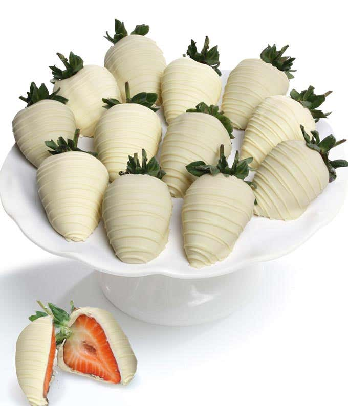 Belgian White Chocolate Covered Strawberries