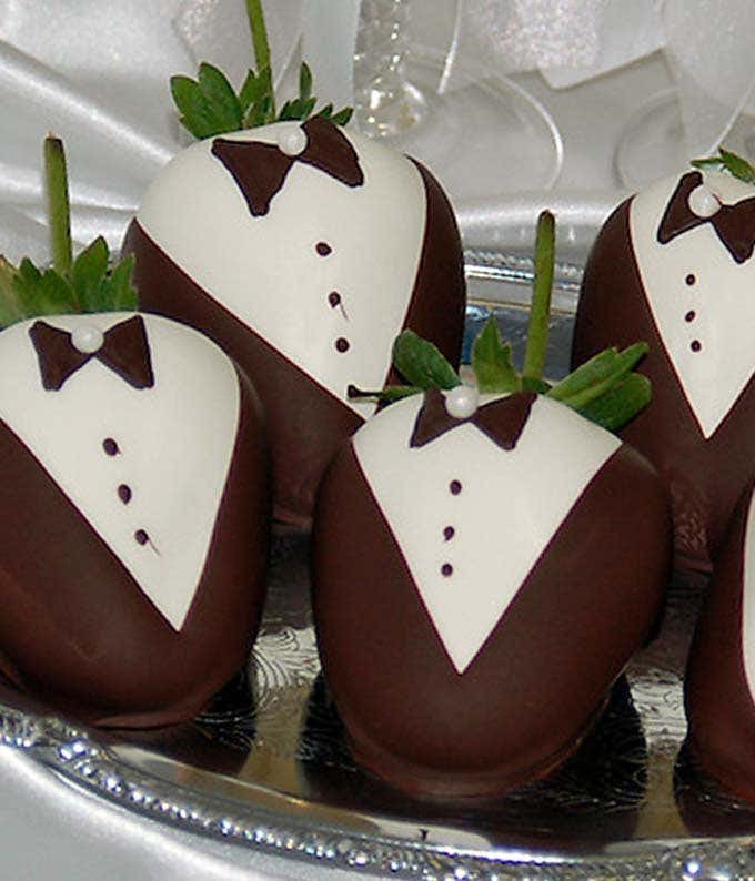 Groom Chocolate Covered Strawberries