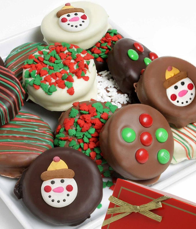 Christmas Belgian Chocolate Covered Oreos - 12 Pieces