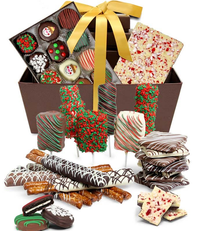 Ultimate Holiday Belgian Chocolate Covered Gift Basket