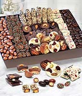 Chocolate Covered Caramel Nut and Fruit Tray