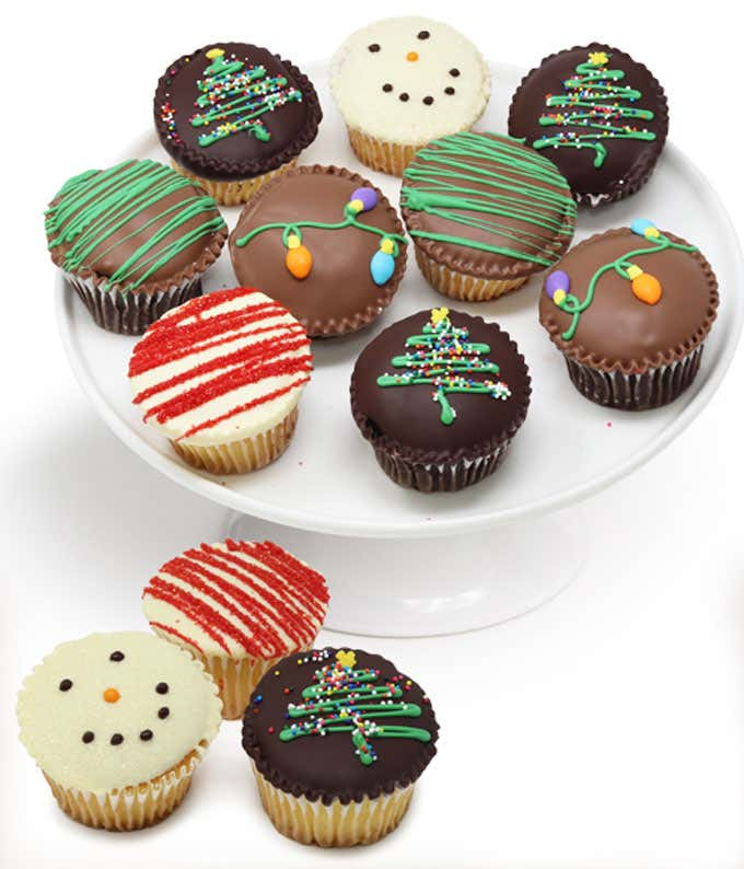 Hand Dipped Christmas Cupcakes