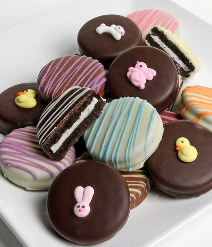One dozen Easter chocolate covered Oreo cookies