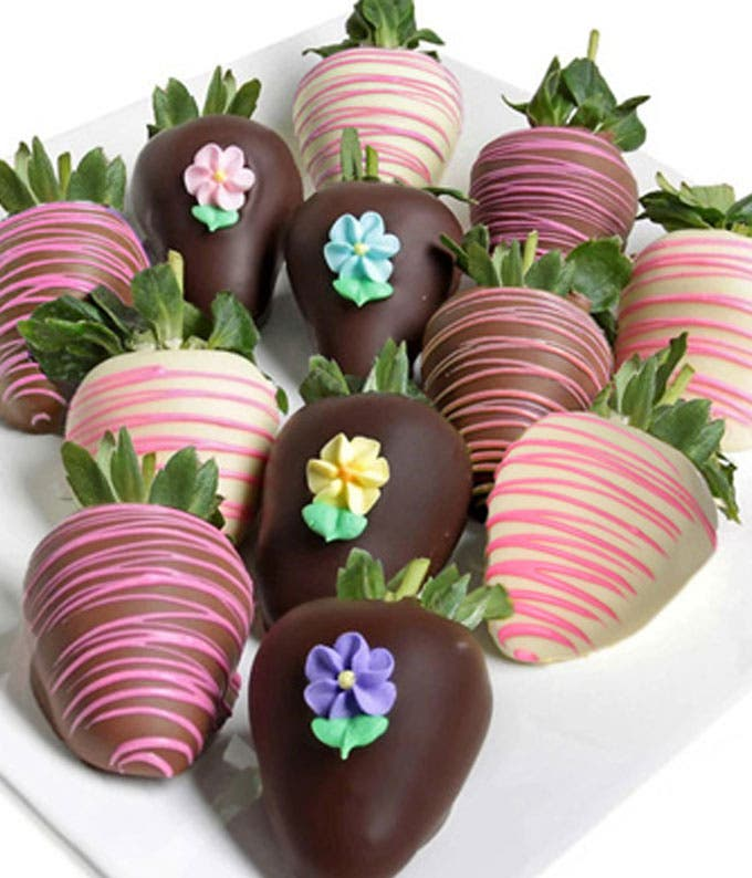 Half Dozen Spring Chocolate Covered Strawberries