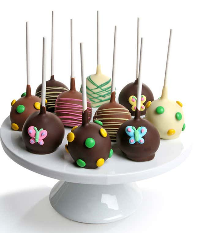 Spring Chocolate Dipped Cake Pops - 10 Pieces