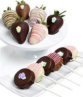 Mother's Day Chocolate Covered Strawberries and Oreos