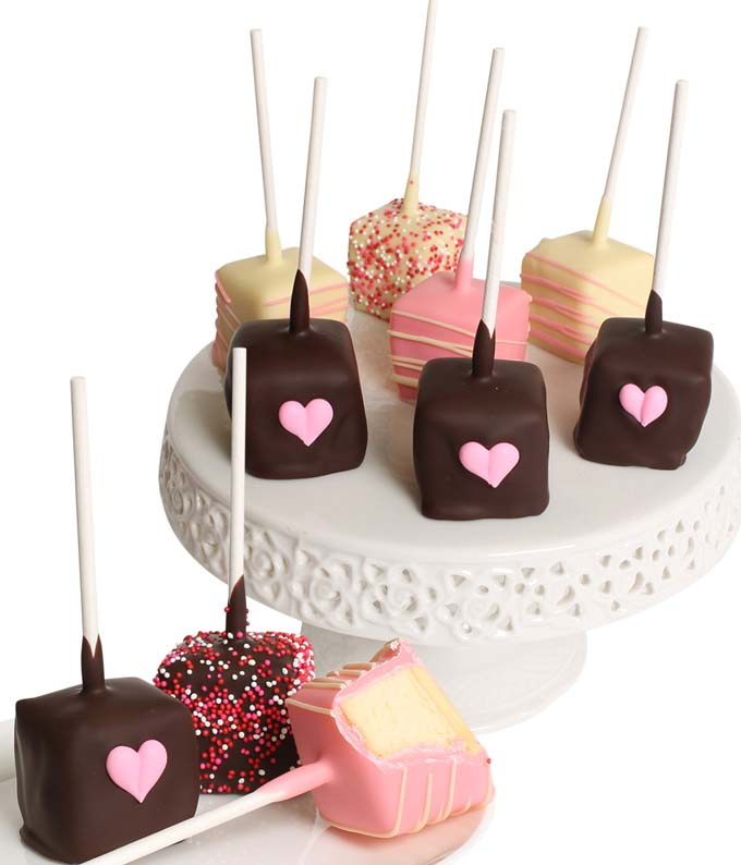 Heart Chocolate Covered Cheesecake Pops
