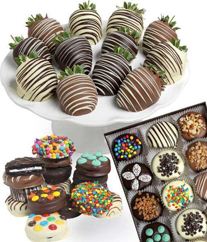 Gourmet Chocolate Covered Strawberries and Cookies