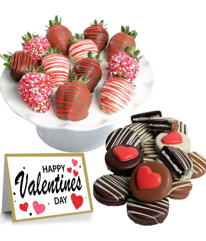 Valentine's Day Chocolate Covered Oreos & Strawberries