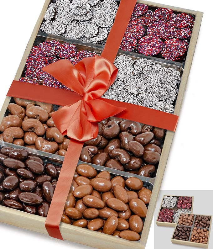 Valentine's Day Nut and Nonpareil Two Tray Gift Set