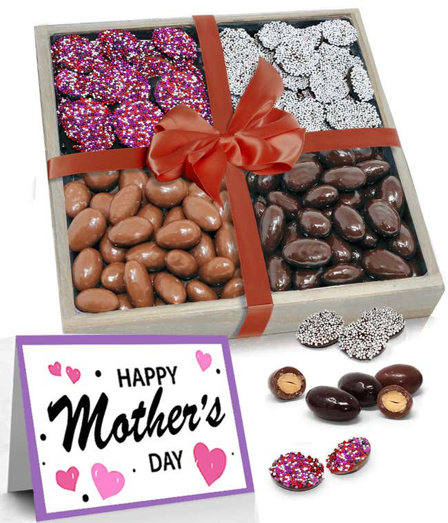 Valentines Day Almond and Nonpareils Gift Tray