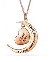 Rose Gold I Love You To The Moon And Back Necklace