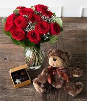 One Dozen Red Roses...